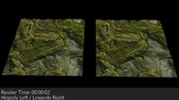 3d model mapped terrain 1