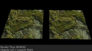 3d model mapped terrain 1