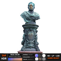 3d statue park ultra hd model