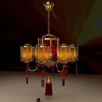 chinese lantern 3d obj