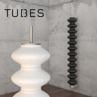 3d milano tubes wall radiator model