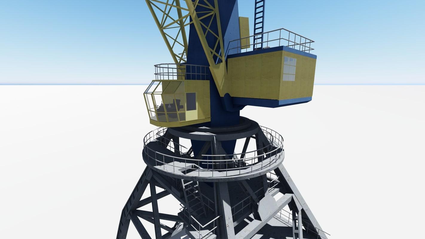 3d model crane ganz ports