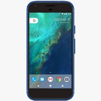 3d google pixel really blue model