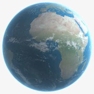 3d realistic earth model
