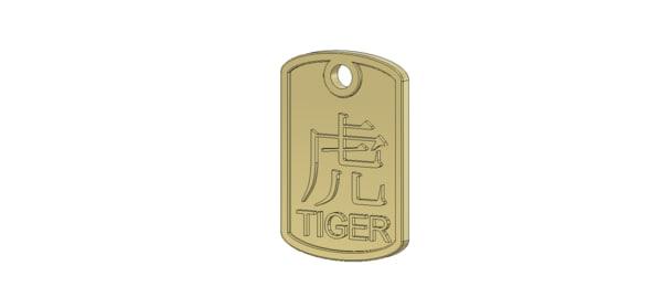 tiger pendant 3d ige