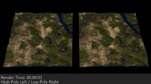 mapped 2 terrain 3d 3ds