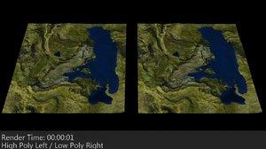 3ds terrain mapped