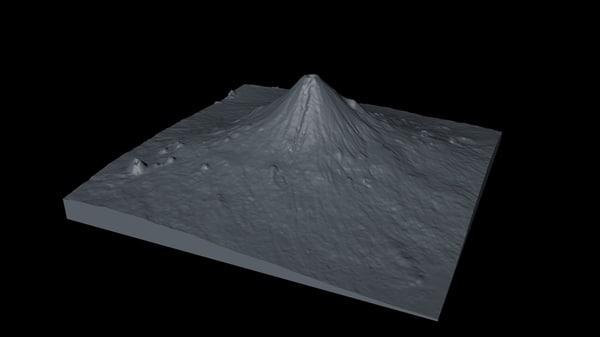 volcano untextured 3d c4d