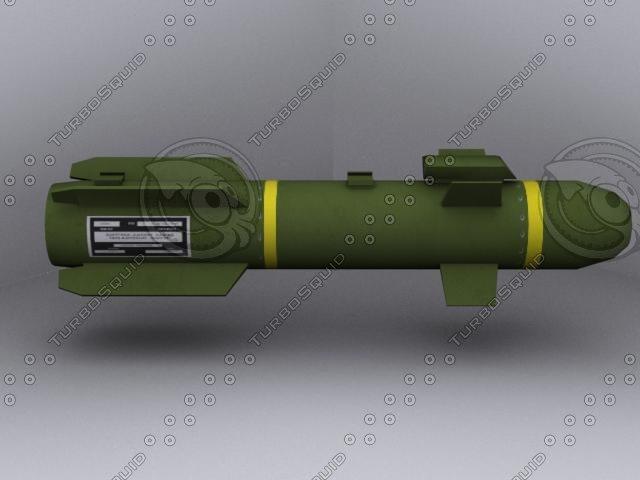 missile rocket 3d max