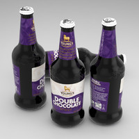 3d beer bottle double