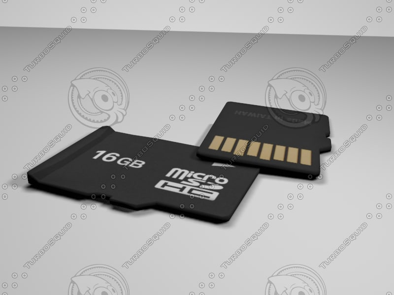 micro sd 3d max