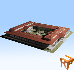 gymnasium greek 3d model