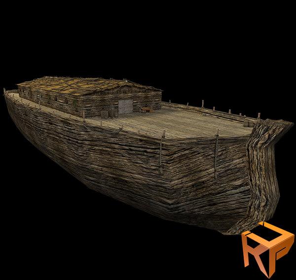 noah ark 3d model