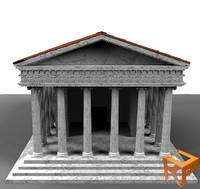 temple ancient 3d ma