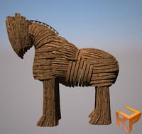 3d trojan horse model
