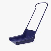 3d sleigh shovel blue