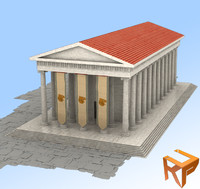 greek temples ancient 3d max
