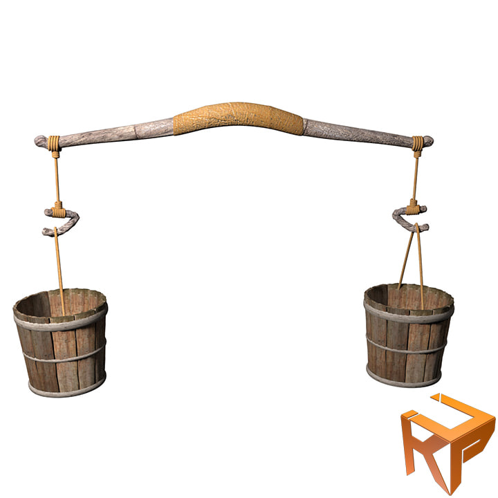 3d neolithic water bucket