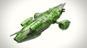 3d aircraft dropship model