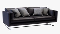 Modern Sofa black leather