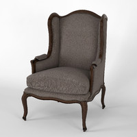 classic english armchair obj