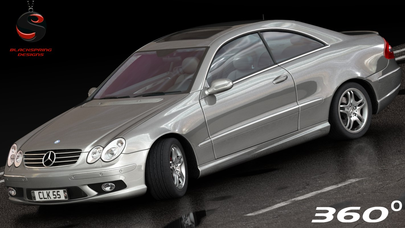 3d mercedes-benz clk55 coupe amg