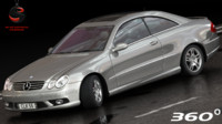 3d mercedes-benz clk55 coupe amg