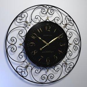 obj black wall clock
