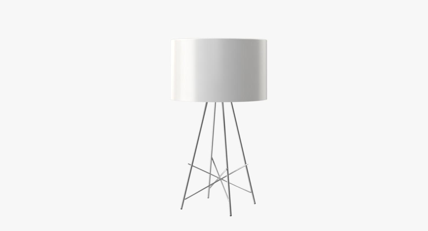 3d model table lamp flos lights