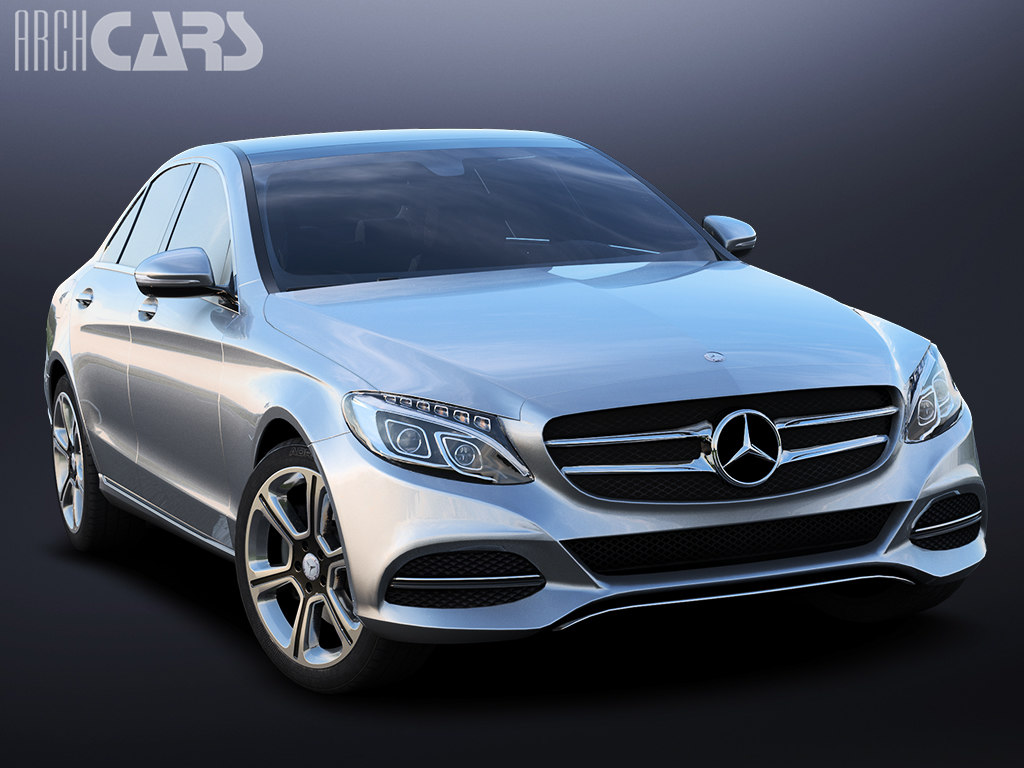 3d model of benz mercedes c