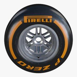 formula1 wheel pirelli pzero 3d model