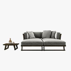 3d model sofa gio b