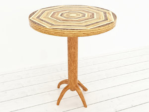 3d obj wooden coffee table