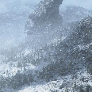 snowy mountain snow max