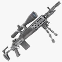 sniper rifle m2010 3d max