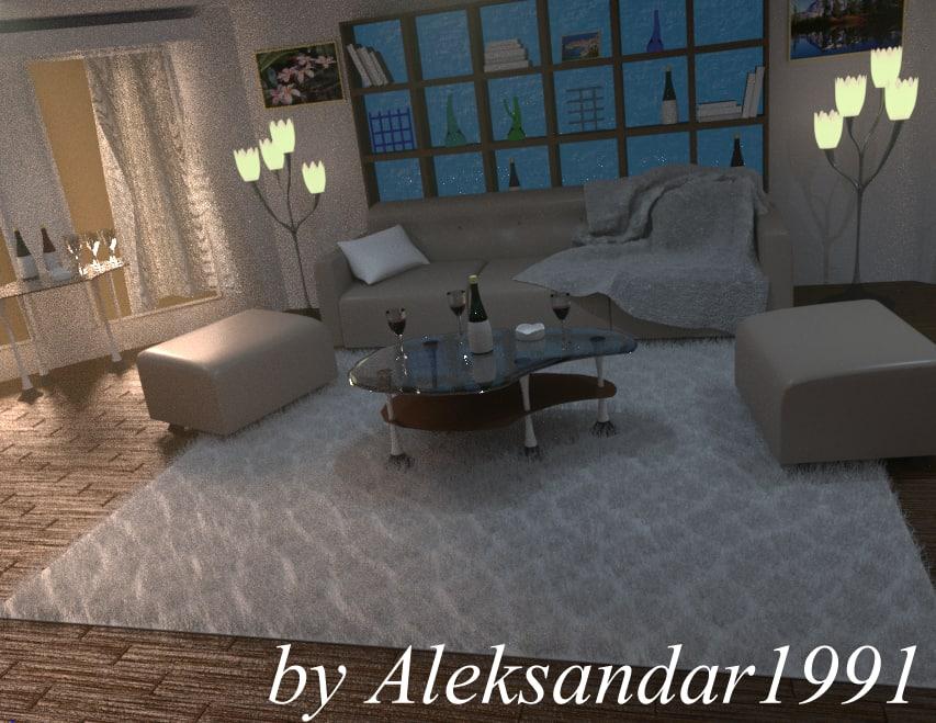 3d model relax room