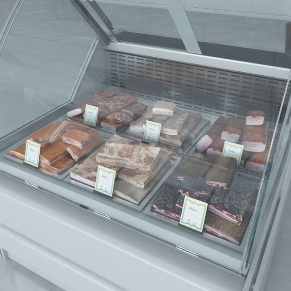 custom refrigerated showcase becons max