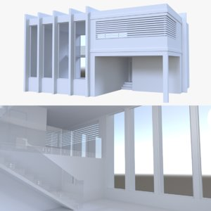 3d model modern house interior