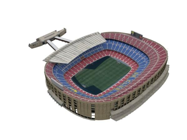 nou camp stadium 3d 3ds