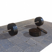 barbell weight 3d model