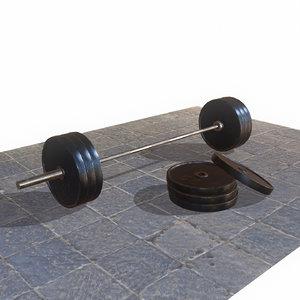 barbell weight 3d model