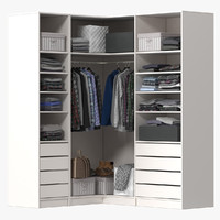 Wardrobe with Clothes 04