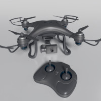 3d model of quadcopter drone quad