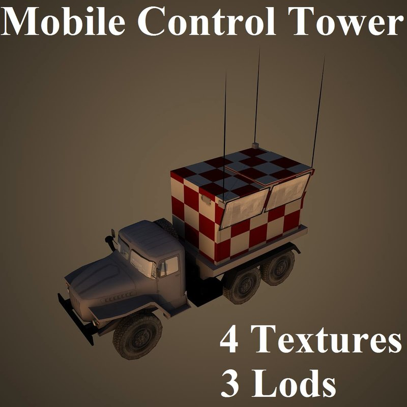 mobile control tower 3d model