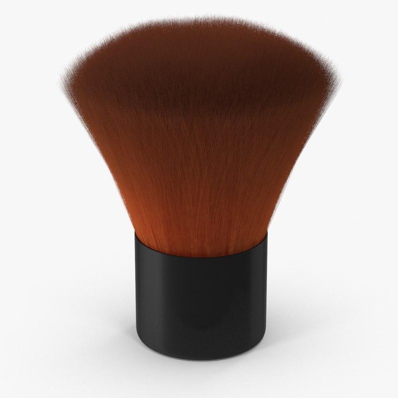 makeup brush 03 3d model