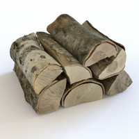 3d photoreal wood logs