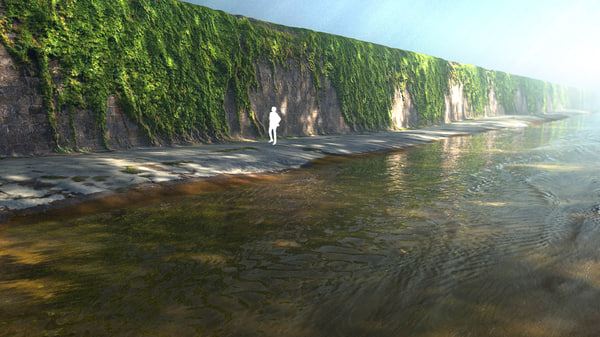 3d urban water canal model