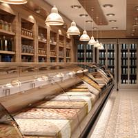 3d nuts market interior