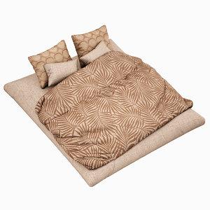 3d max bed set highpoly