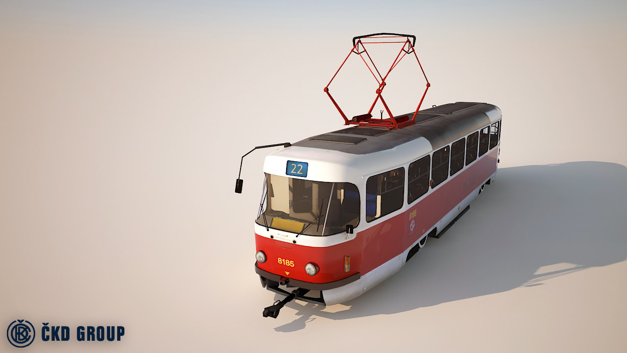 3d model tatra city tram